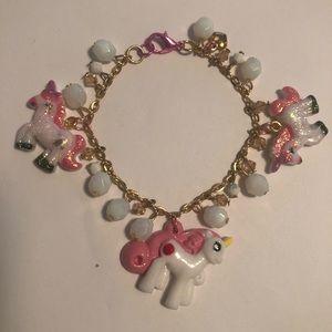 Other - My little pony charm unicorn bracelet crystal bead